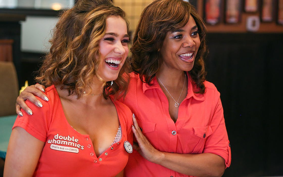 Haley Lu Richardson and Regina Hall in Support the Girls.