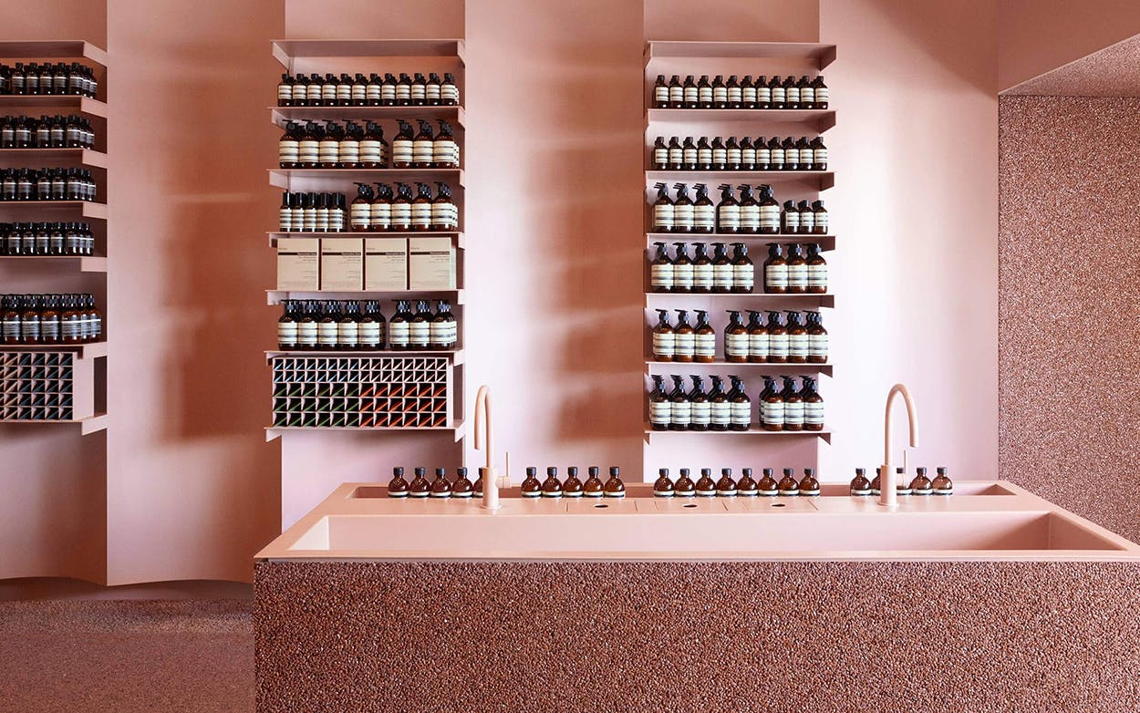 Australian brand Aesop opened three locations in Dallas in the past year, including their blush-toned store in the Knox neighborhood.