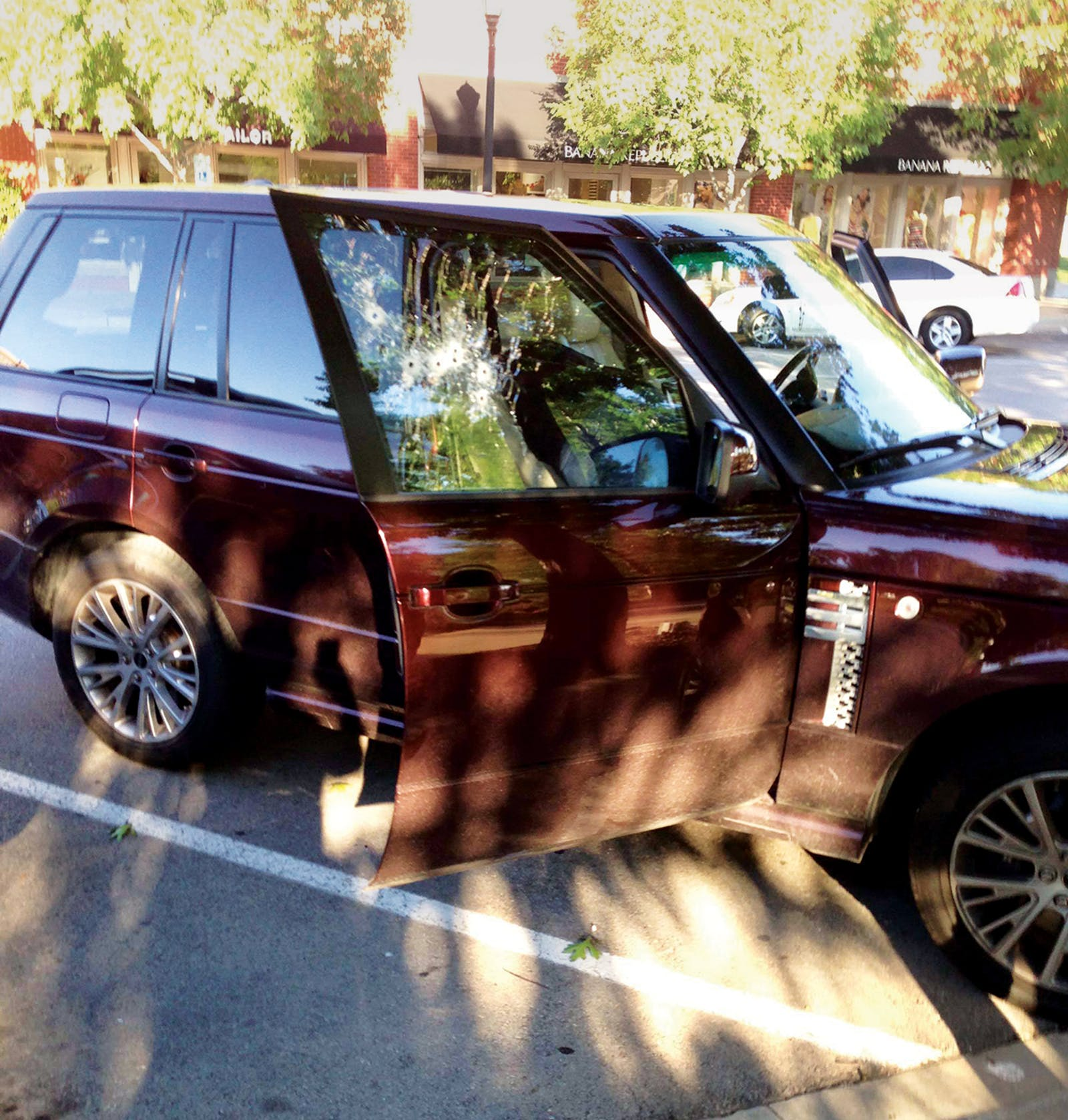Guerrero's Range Rover at Southlake's Town Square on the day of the murder, May 22, 2013.
