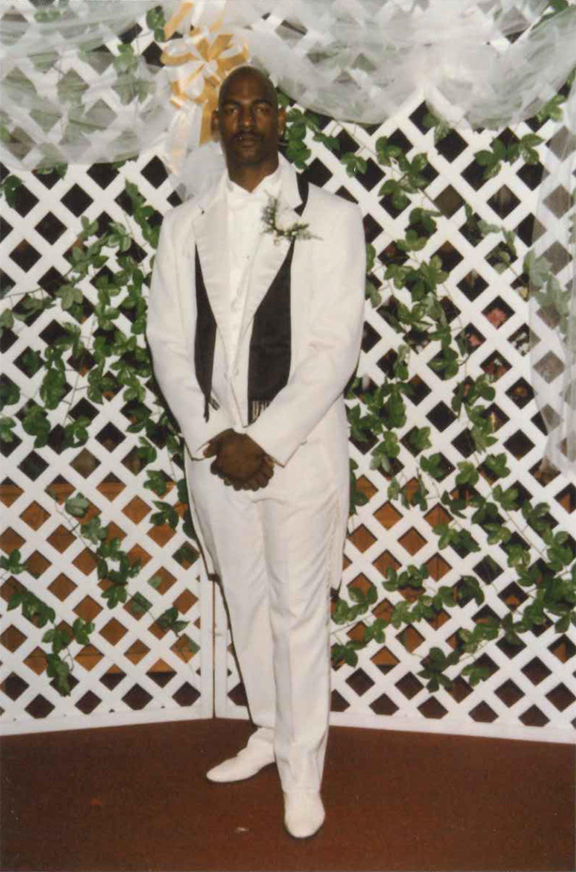Ates at his wedding.
