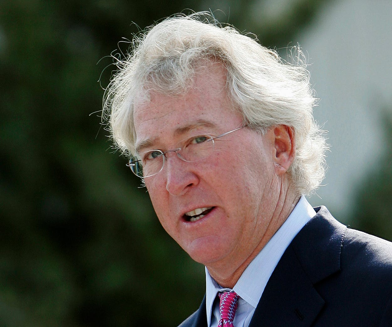 In a Sept. 8, 2009, file photo, Chesapeake Energy Corp. CEO Aubrey McClendon speaks during the opening of a compressed natural gas filling station in Oklahoma City.