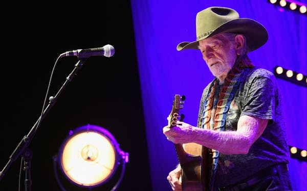 Willie Nelson performs at The Life & Songs of Kris Kristofferson produced by Blackbird Presents at Bridgestone Arena on March 16, 2016 in Nashville, Tennessee.