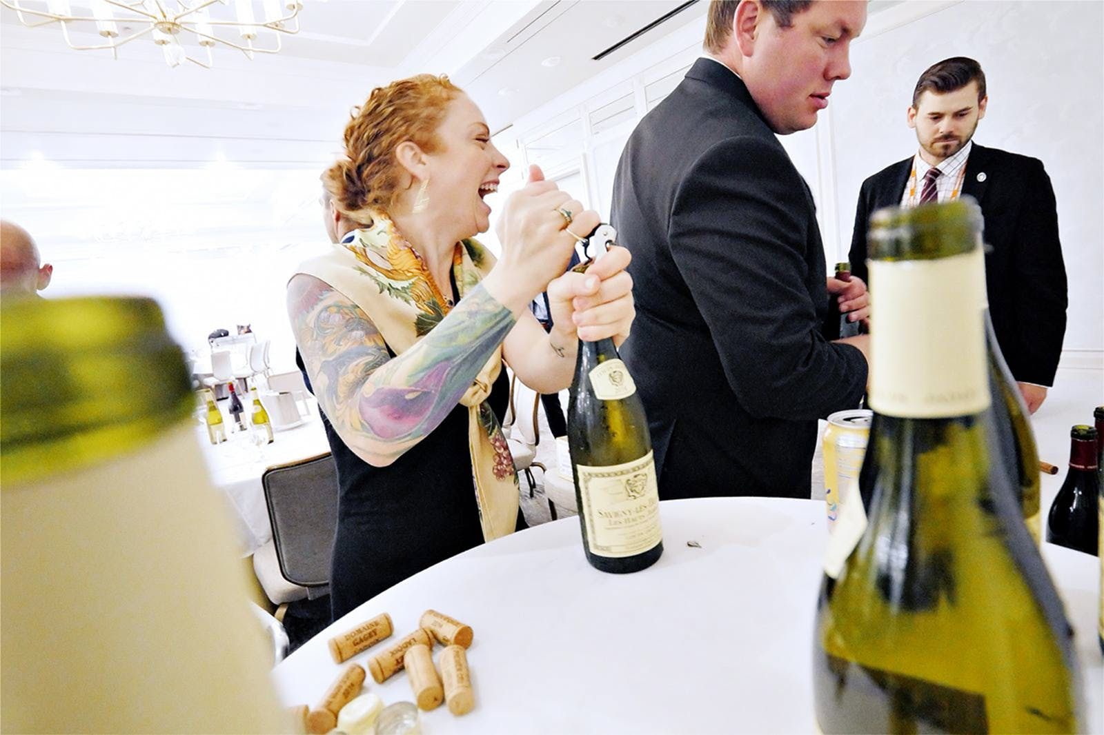 At TEXSOM, sommeliers and suppliers network as they taste wines.