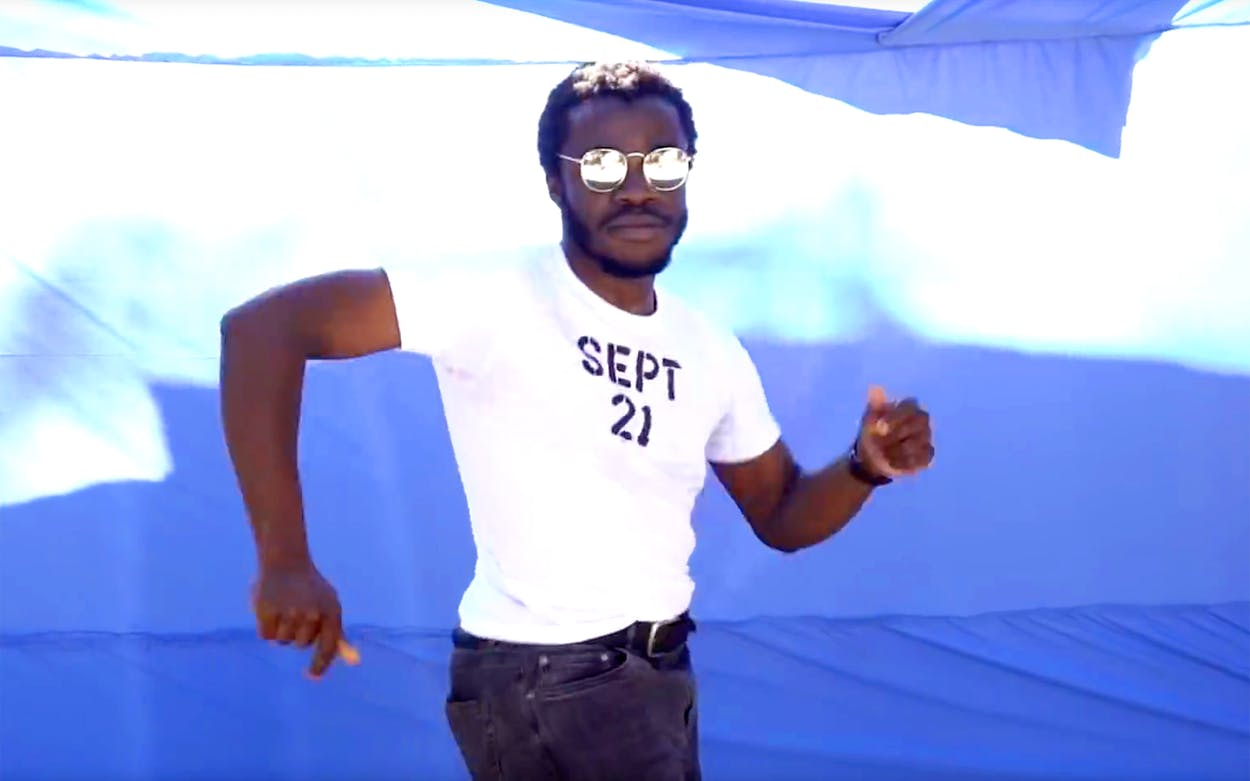 Demi Adejuyigbe dancing in the 2018 September 21 video.