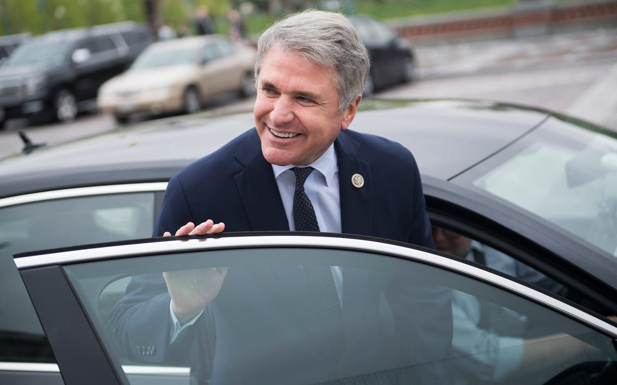 Rep. Michael McCaul, R-Texas, leaves the Capitol after the last votes of the week on April 27, 2018.