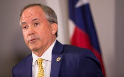 Texas Attorney General Ken Paxton in Austin on Tuesday, May 1, 2018.