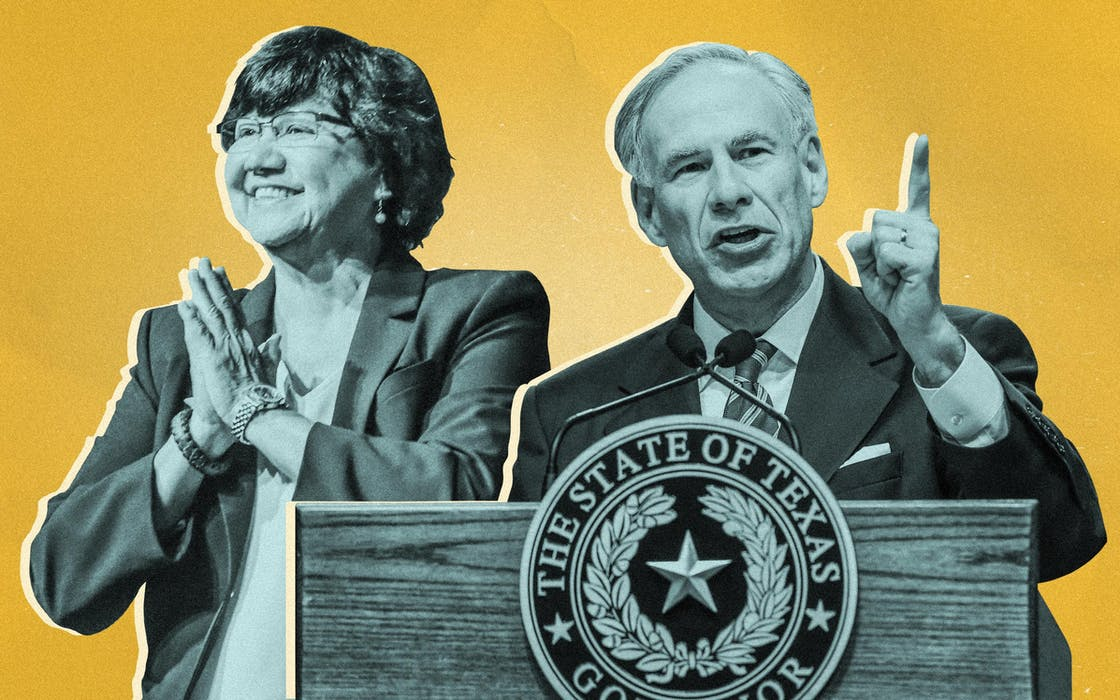 Lupe Valdez and Governor Greg Abbott
