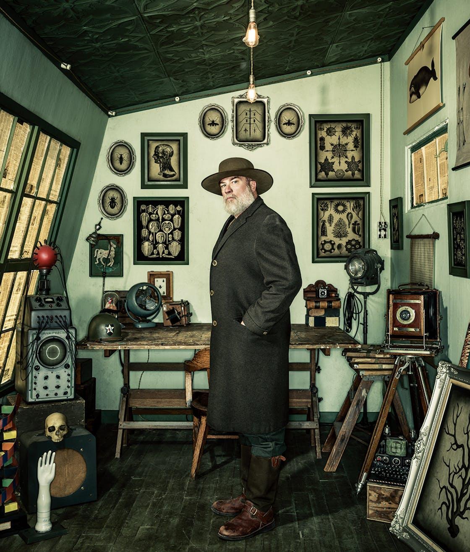 Dan Winters in his studio