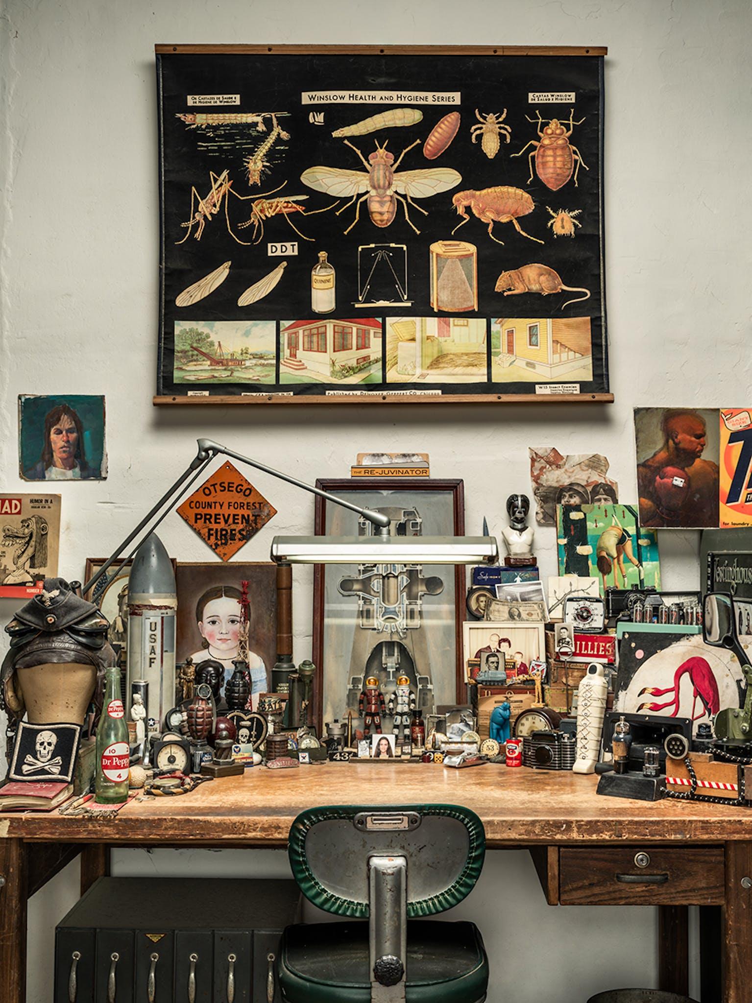a desktop scene in Dan Winters' studio