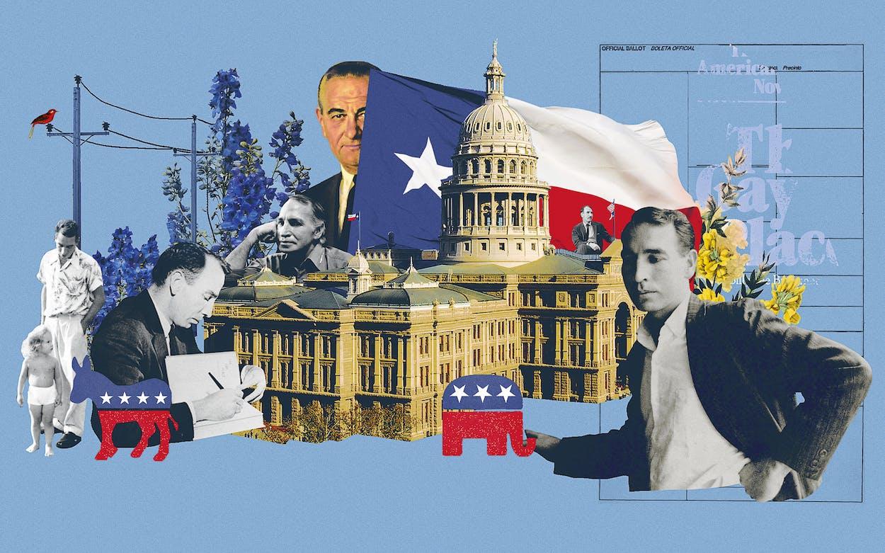 Illustration of Billy Lee Brammer and Texas politics