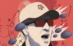 An illustration of A&M head football coach Jimbo Fisher