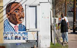 David Mays stands outside Sam's BBQ on East 12th Street in Austin on Friday January 15, 2016.
