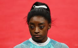 A photo of Olympic gymnast Simone Biles
