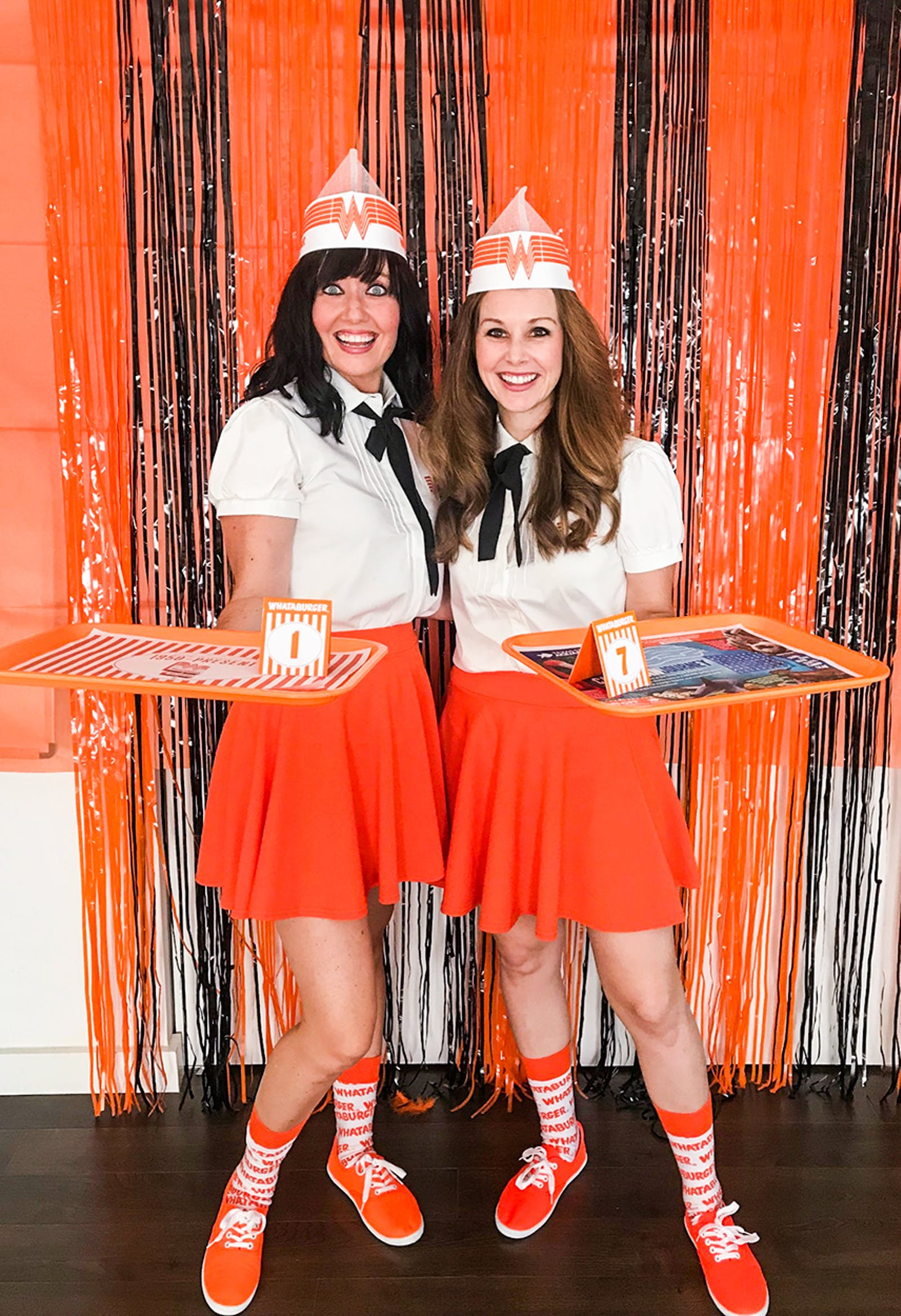Jensen and Horner made their own matching, vintage-inspired Whataburger uniforms.