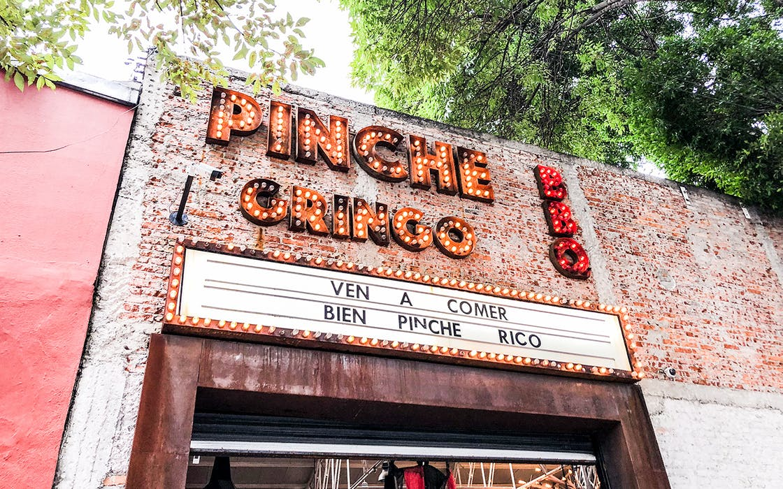 restaurant exterior of Pinche Gringo BBQ