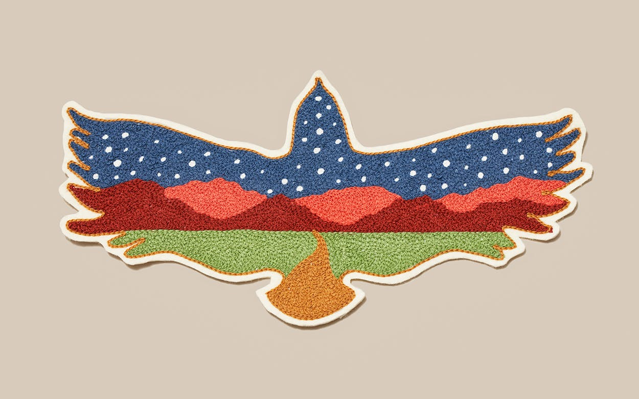 Transpecos Spread Eagle patch from Fort Lonesome.
