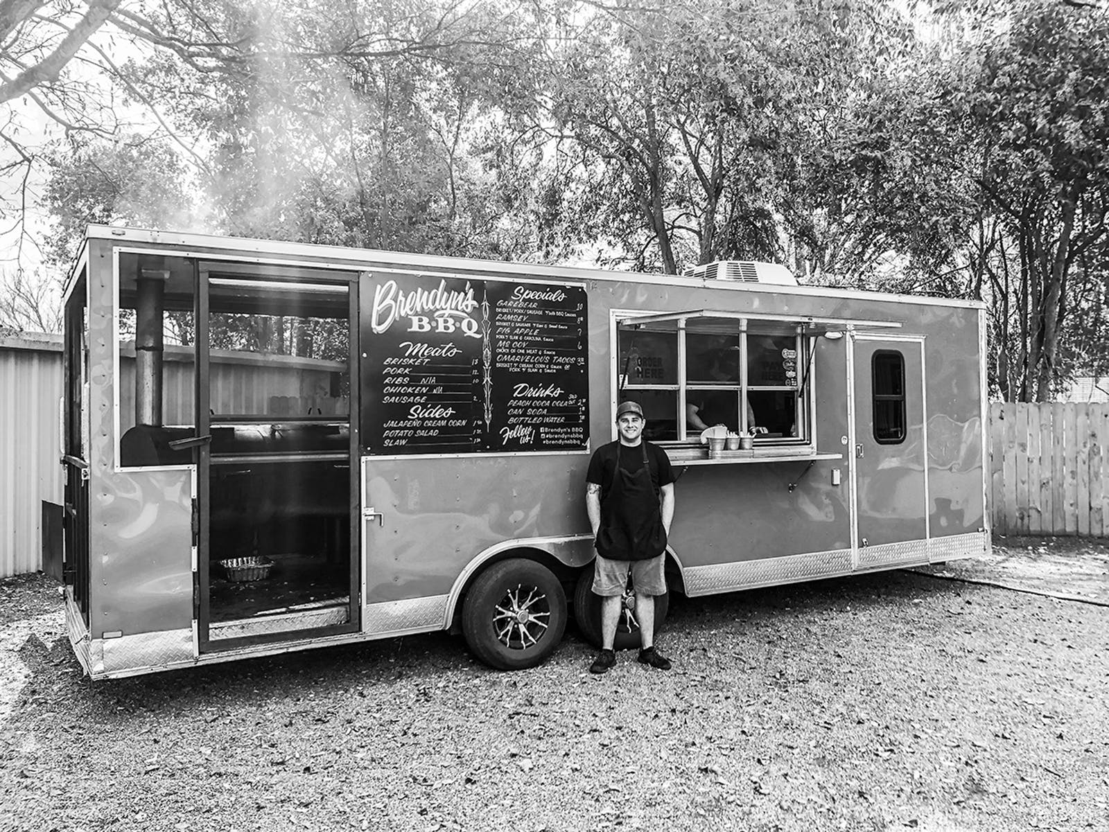 Brendyn Todd outside of his food truck in Nacogdoches