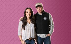 Chip and Joanna Gaines posing for camera
