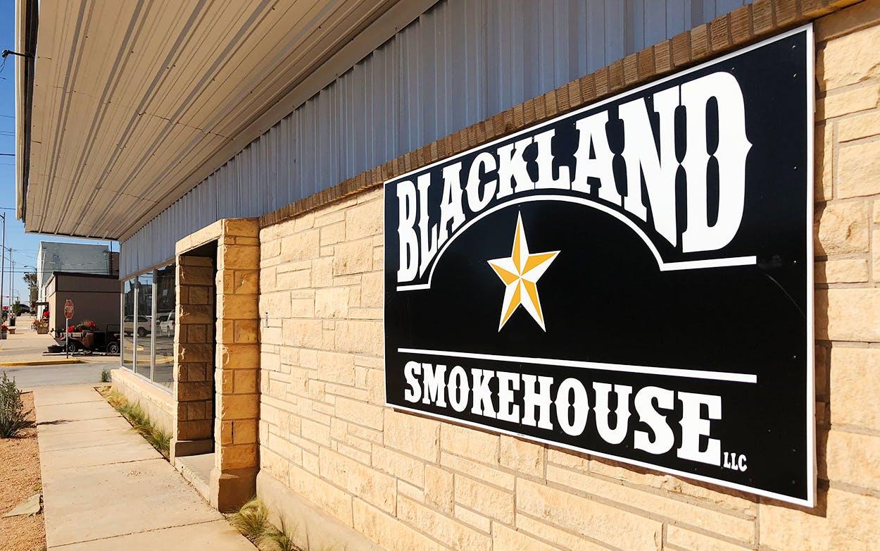 Blackland Smokehouse in Snyder, Texas.