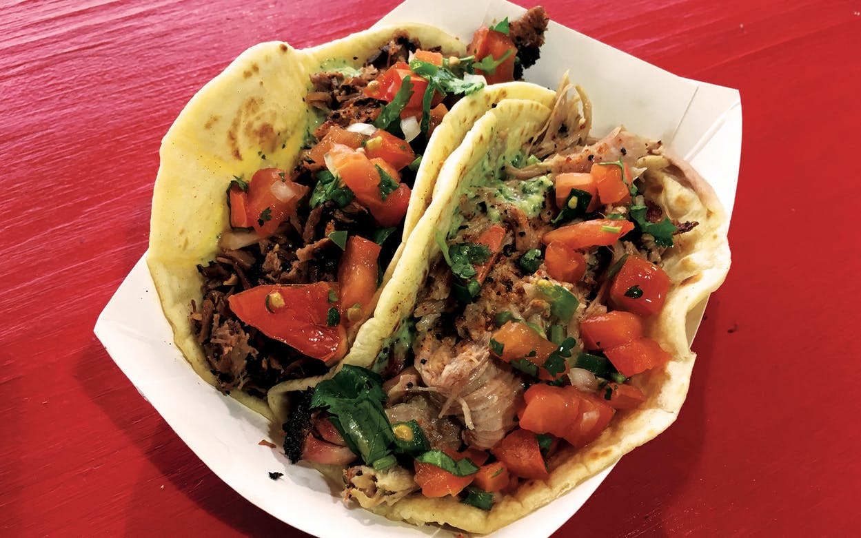Tacos from BBQ on the Brazos in Cresson.