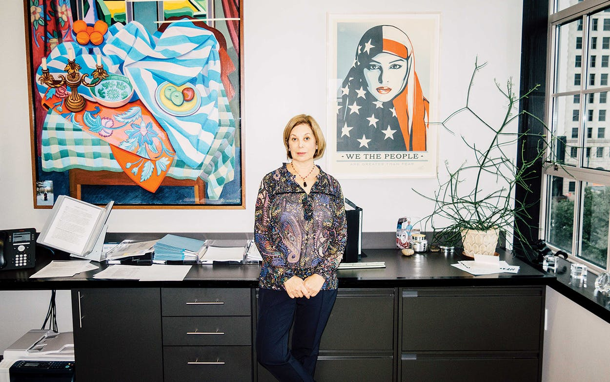 Marks in her office in downtown Houston on October 22, 2018.