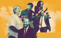 Brené Brown, Brad Parscale, Taylor Sheridan, Art Acevedo, Lina Hidalgo and Colin Allred.