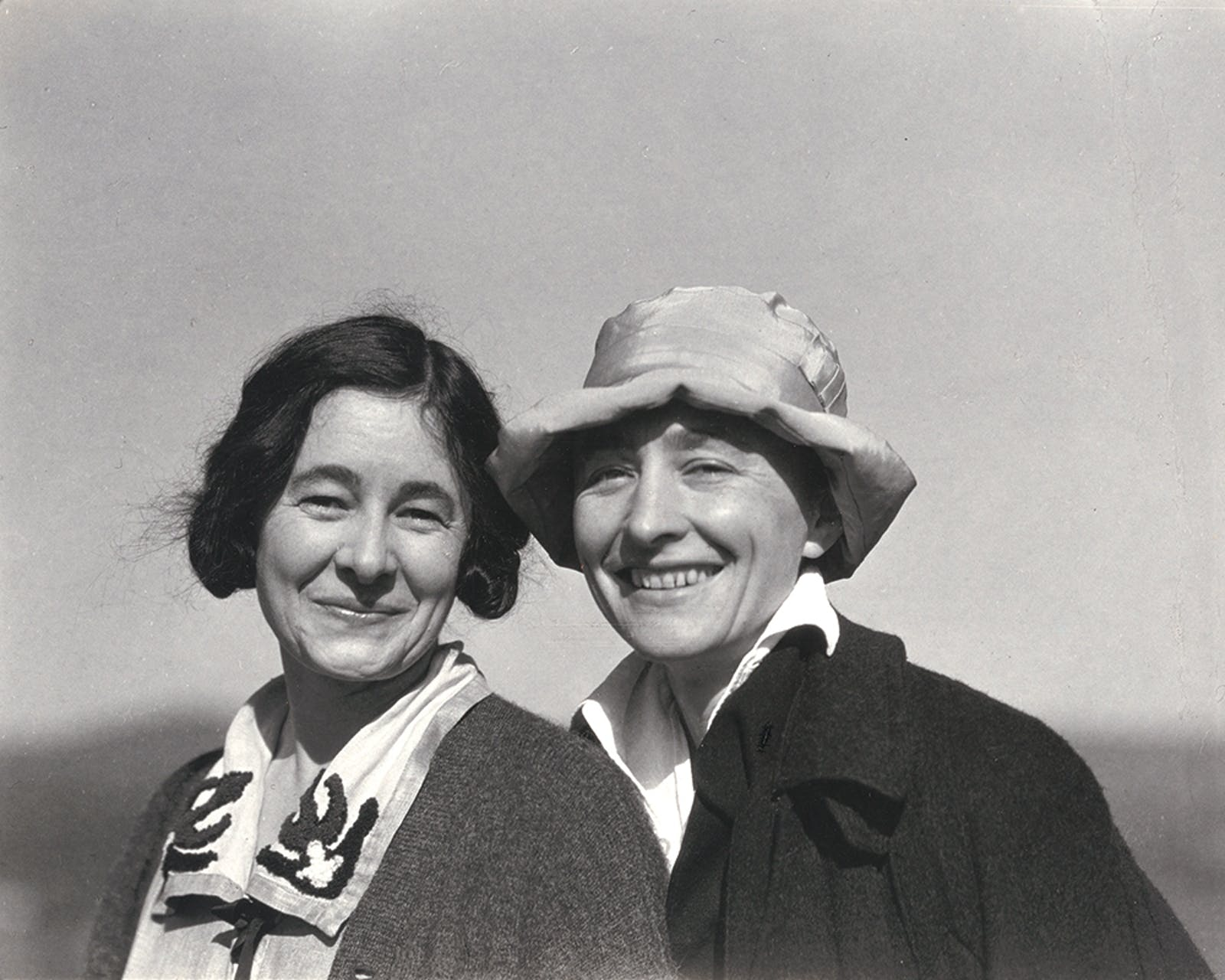 Ida and Georgia O'Keeffe smiling together