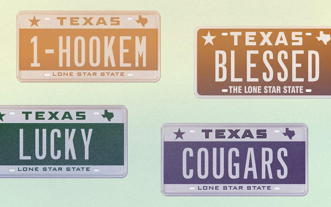 Texas vanity plates