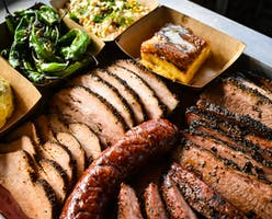 The full menu at Reveille Barbecue