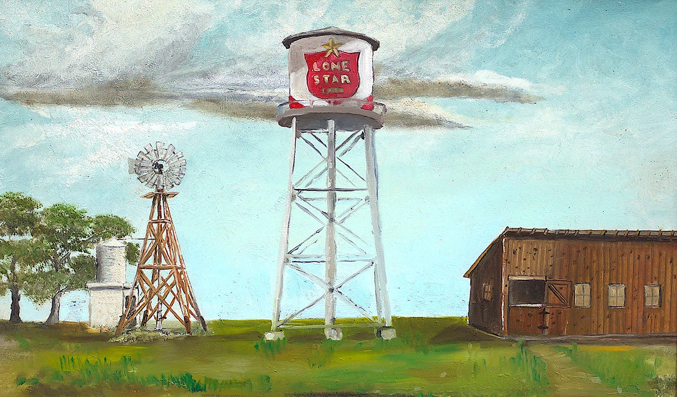 """Lone Star Beer Tower"""
