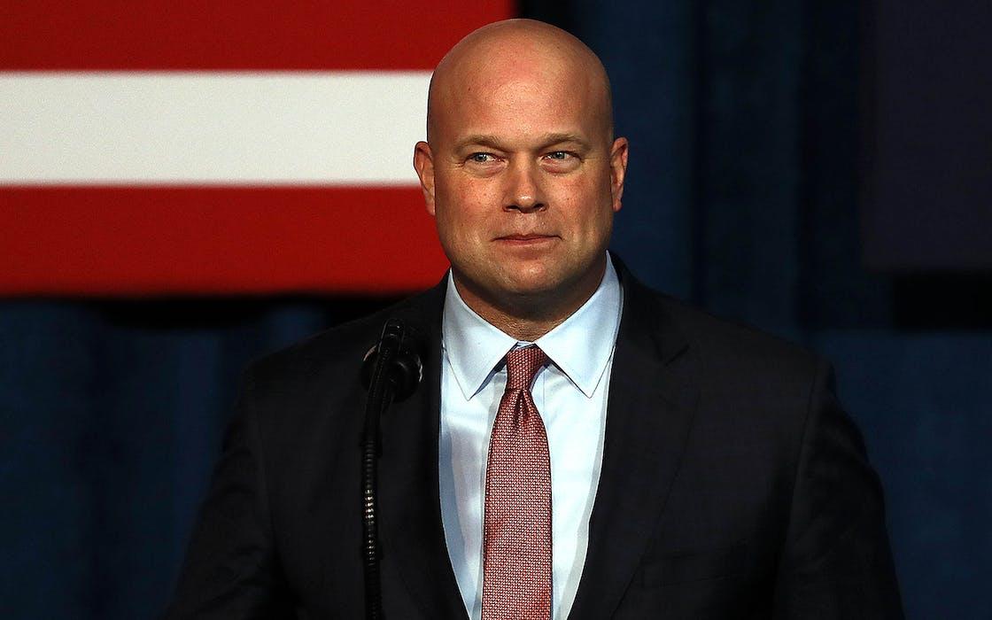 Acting Attorney General Matthew G. Whitaker