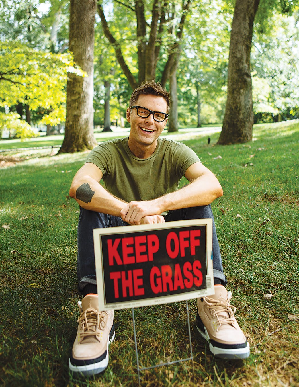 Bones on his lawn in Nashville.