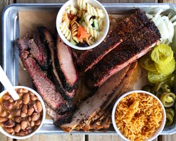 Brisket, ribs, and smoked turkey at Butter's BBQ