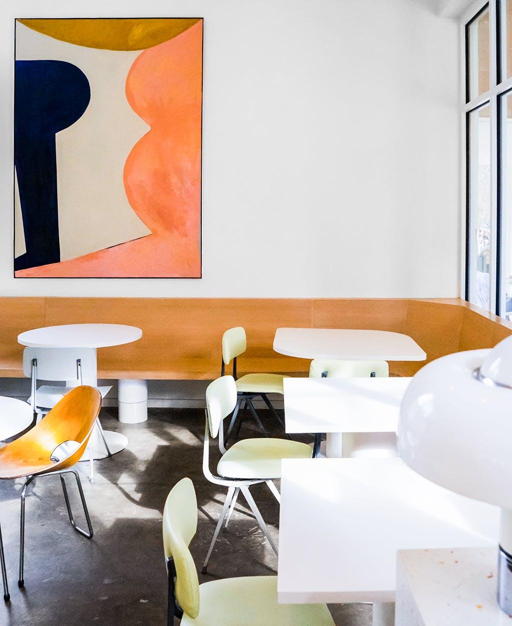 restaurant design interior of Vibrant in Houston