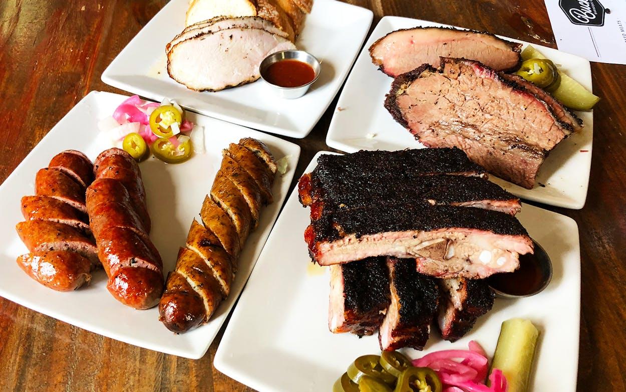 A spread at Bucks BBQ