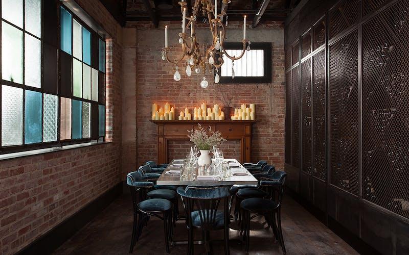 The wine room at Maverick Texas Brasserie in San Antonio.