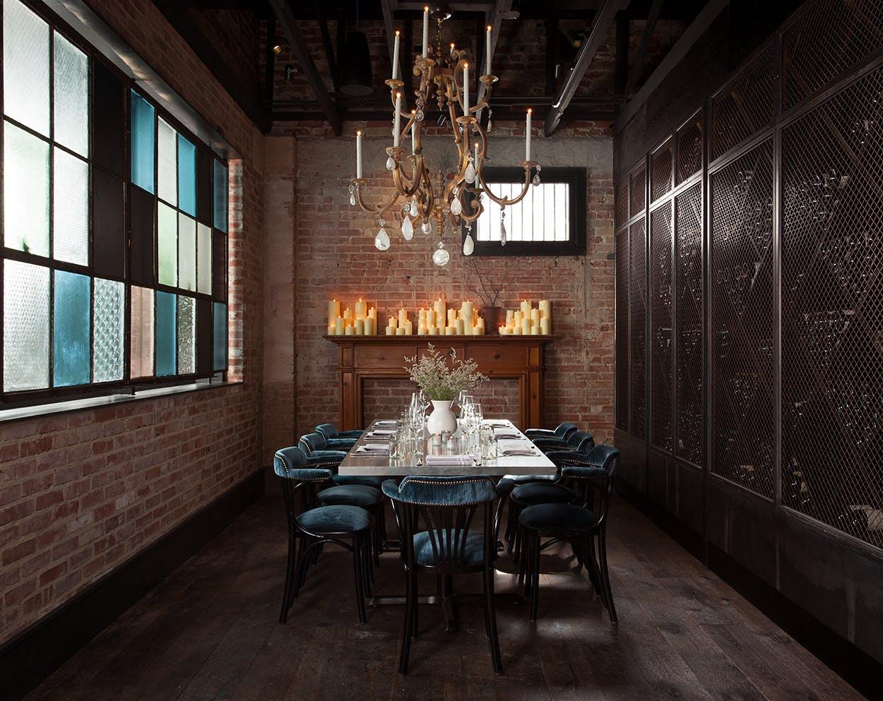 Restaurant design The wine room at Maverick Texas Brasserie in San Antonio.
