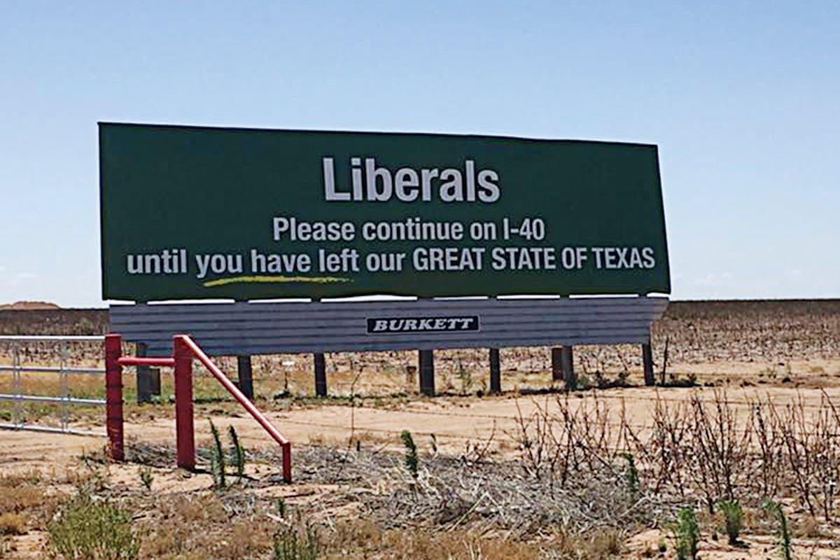 Liberals billboard