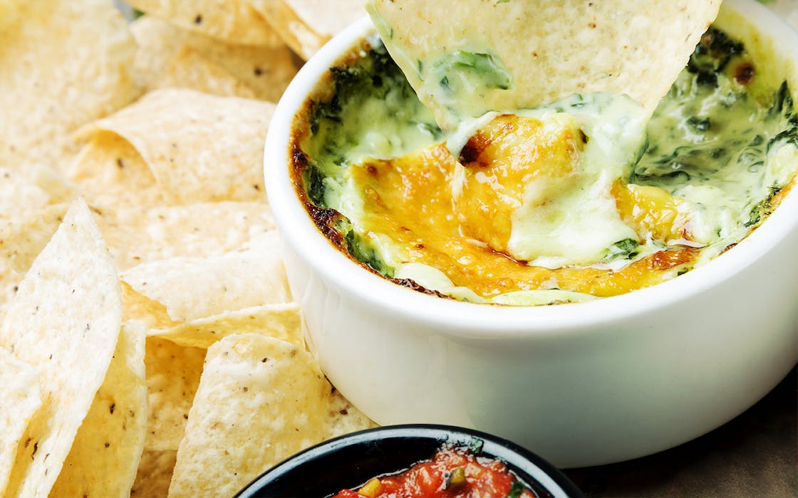 Spinach dip, supposedly the most popular Super Bowl snack in Texas.