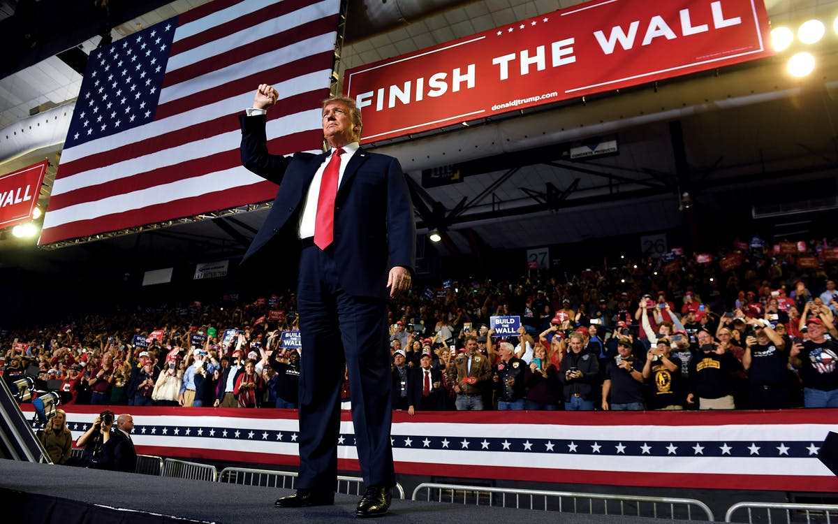 "Donald Trump Vows to ""Finish the Wall"" in El Paso Political Rally"