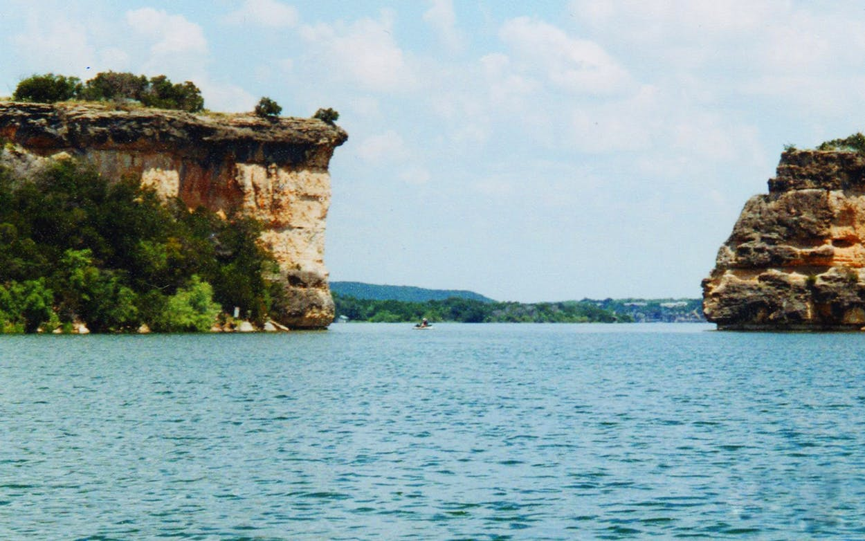A view of Hell's Gate from the author's uncle's boat, taken on a family trip in the early 2000s.