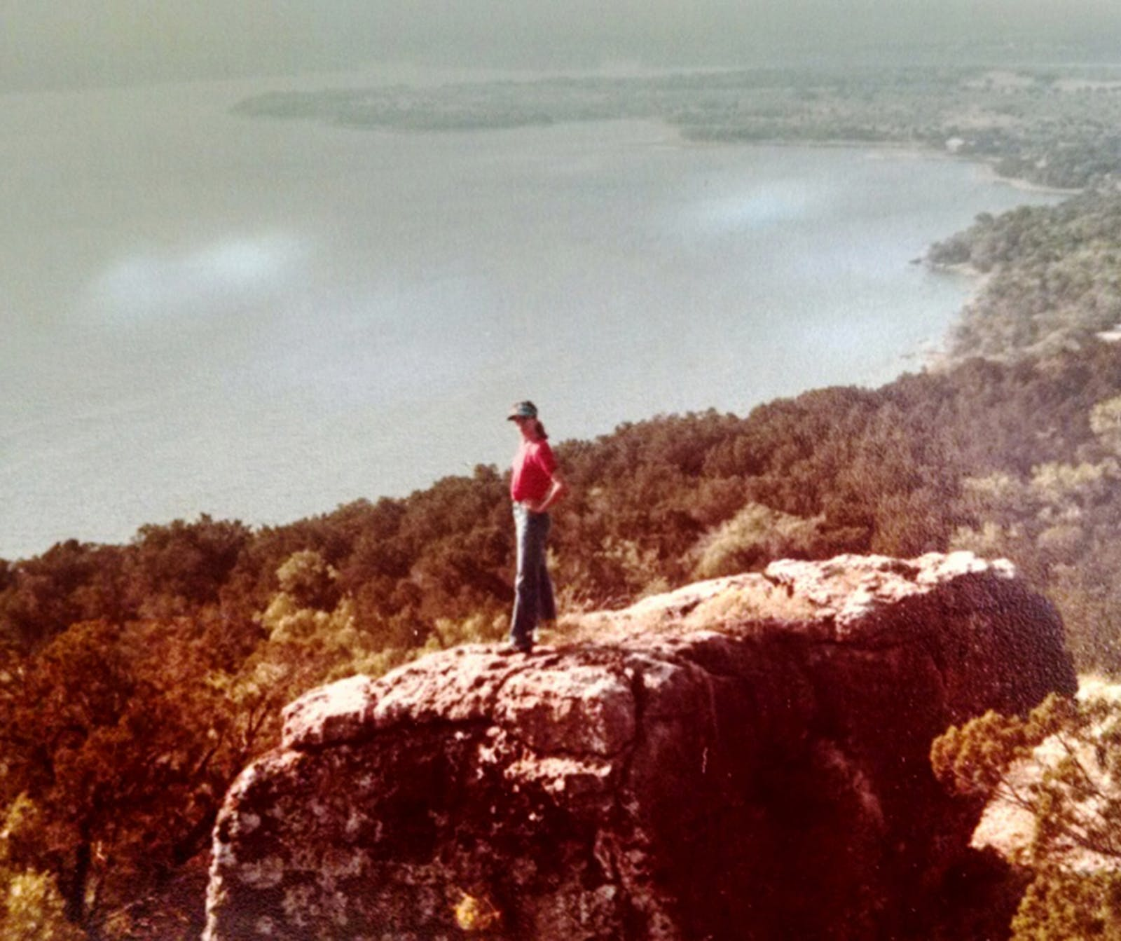 The author's mother on Johnson's Peak in 1978.