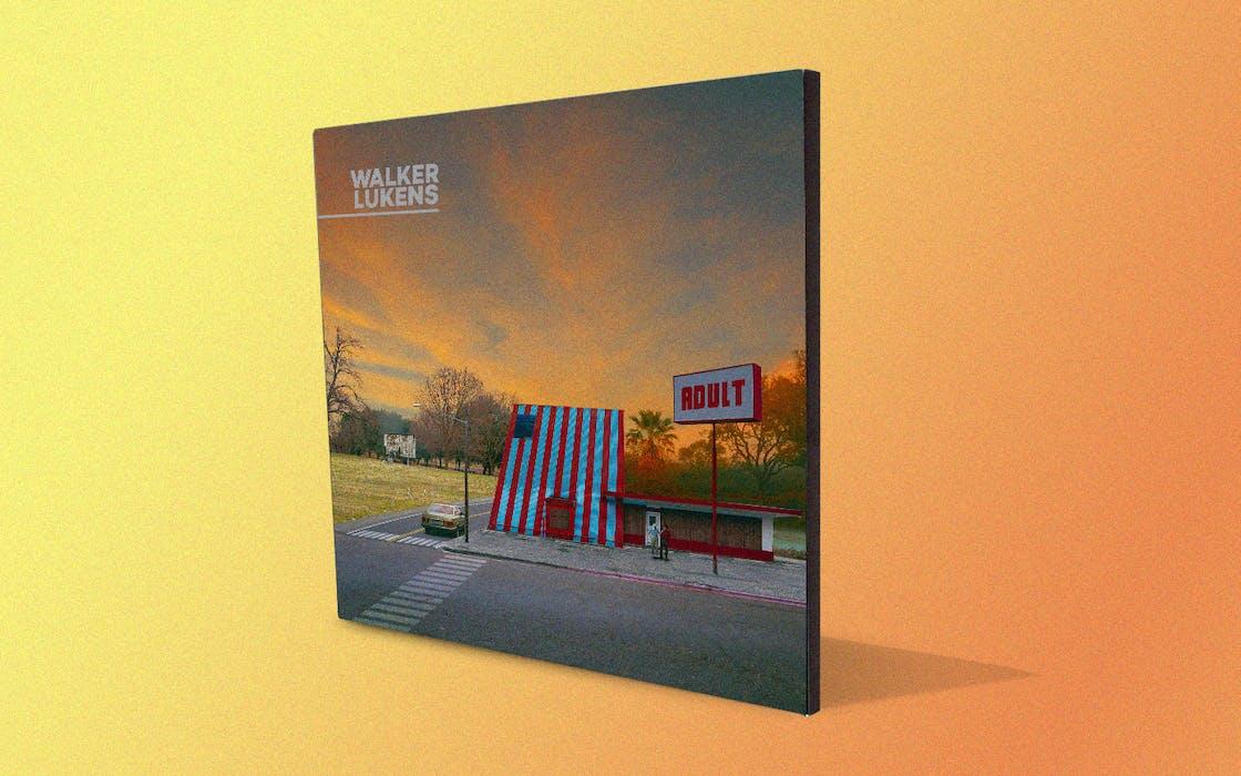 The album art for 'Adult,' a new album from Walker Lukens
