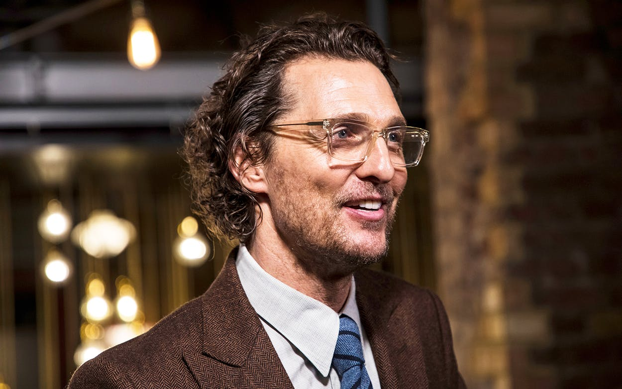 Matthew McConaughey at the premiere of 'White Boy Rick' in London on November 27, 2018.