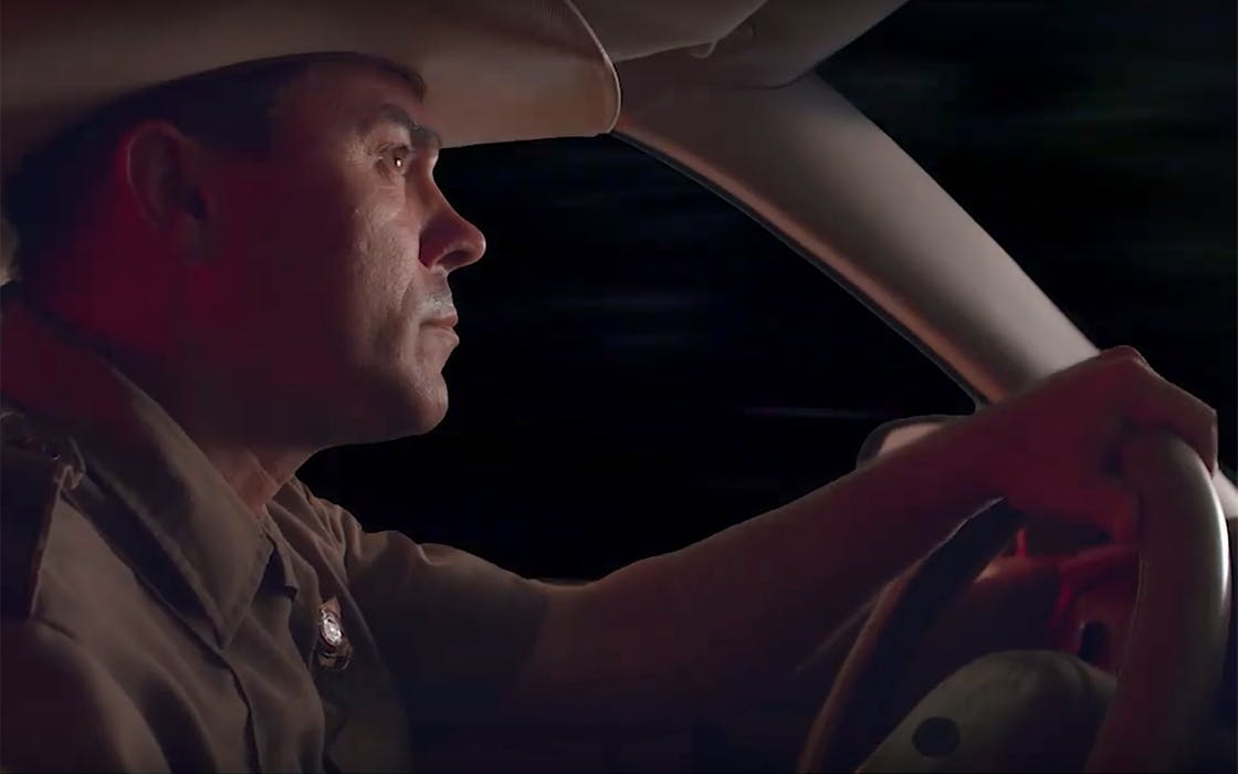 Sheriff Joe Haladin, played by Austin songwriter Jeff Weber, in My Stretch of Texas Ground.