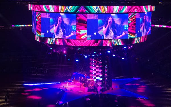 Kacey Musgraves performing at the Houston Livestock Show & Rodeo on February 26, 2019.