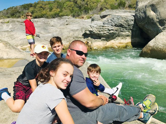 A family outing to Pedernales Falls State Park in June 2017.