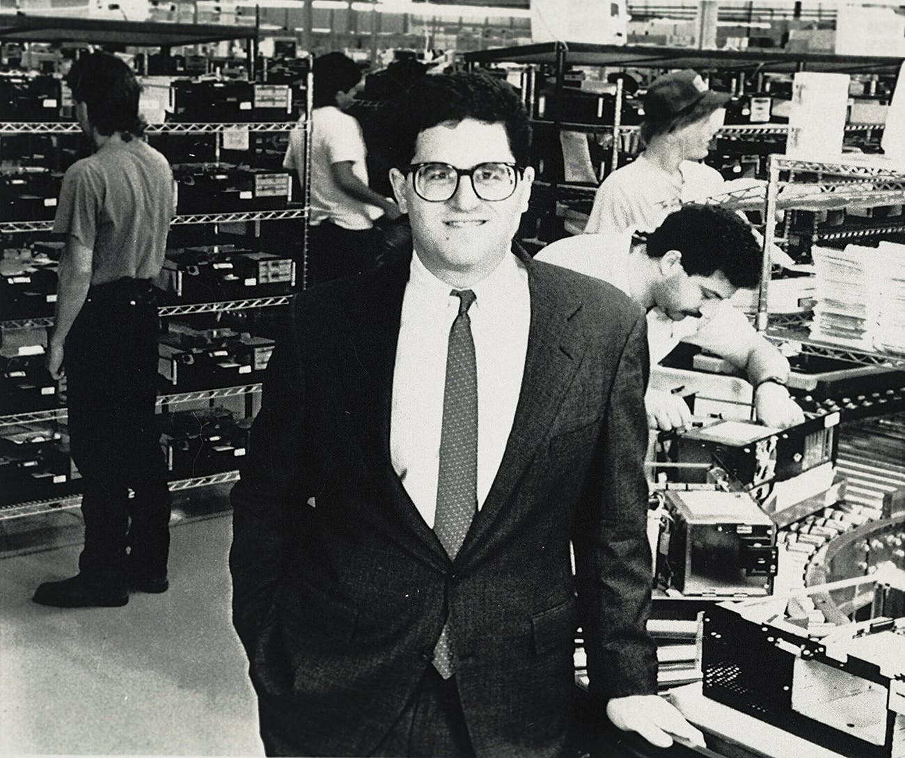 Dell, photographed at his company's production facility in Austin on April 20, 1989.