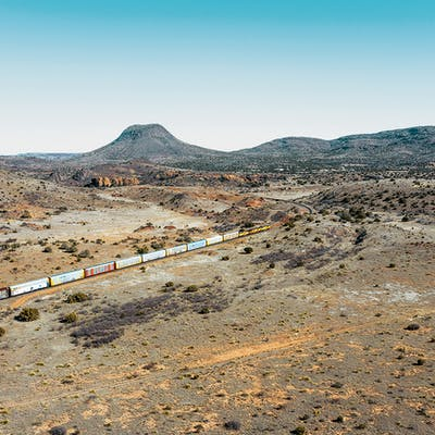 freight train in marfa