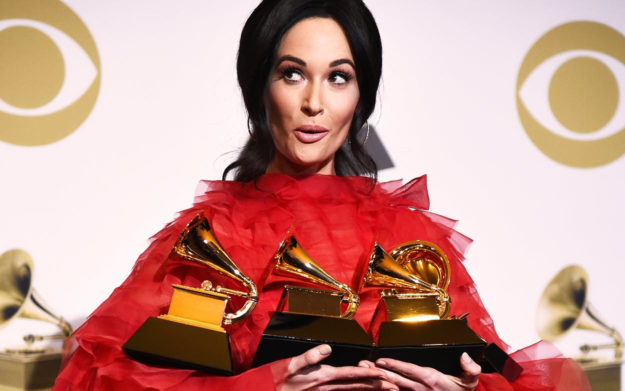 Kacey Musgraves won Album of the Year, Best Country Album, Best Country Song, and Best Country Solo Performance at the 61st Annual GRAMMY Awards.